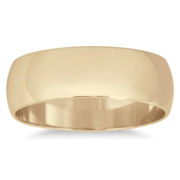 Marquee Jewels 10k Yellow Gold 6-millimeter Domed Wedding Band