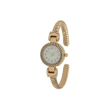 Olivia Pratt Unisex Adult Gold Tone Bracelet Watch-17063gold