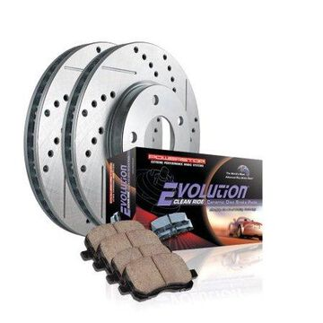Power Stop JBR1114XPR Evolution Drilled & Slotted Rotors -Rear