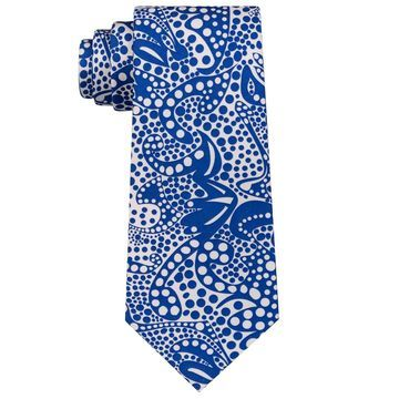 Sean John Blue Men's One Size Botanical Paisley Print Silk Neck Tie