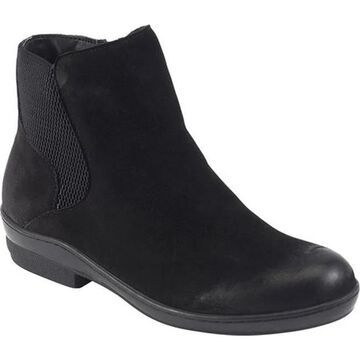 David Tate Women's Torrey Chelsea Boot Black Nubuck Leather