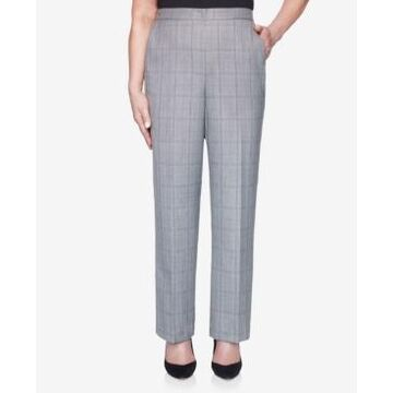 Alfred Dunner Women's Madison Avenue Plaid Proportioned Medium Pant