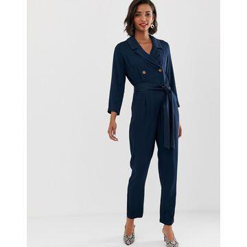 Y.A.S soft tailored tie waist jumpsuit