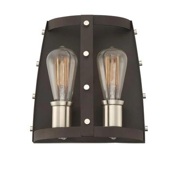 Designers Fountain Presidio 9.5-in W 2-Light Rustique Industrial Wall Sconce | 91602-RT