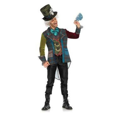 Leg Avenue Mens 3 PC Deluxe Mad Hatter Costume