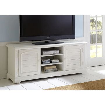 Liberty Oyster White TV Stand