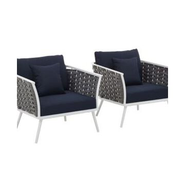 Modway Stance Armchair Outdoor Patio Aluminum Set Of 2