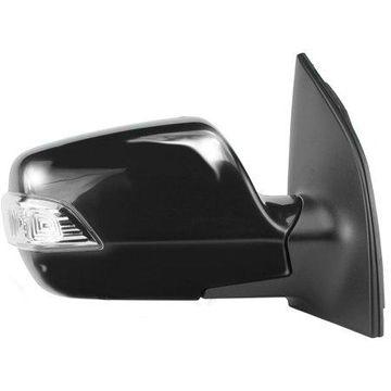 75023K - Fit System Passenger Side Mirror for 09-14 Kia Sedona, textured black w/ PTM cover, w/ turn signal, foldaway, Power