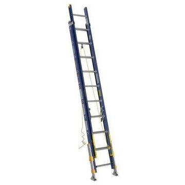 WERNER D8220-2EQ Extension Ladder, Fiberglass, 20 ft. , Type IA