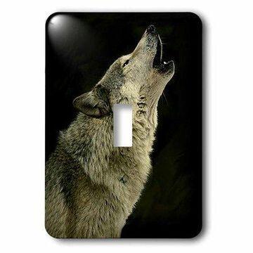 3dRose Timber Wolf, Single Toggle Switch