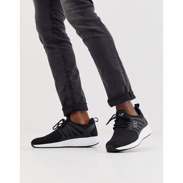 Armani EA7 minimal run sneakers in black