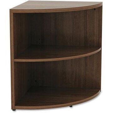 Lorell Walnut Laminate Office Suite Desking, Walnut, 1 Each (Quantity)