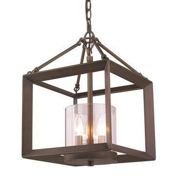 Golden Lighting Smyth 3-Light Gunmetal Bronze Modern/Contemporary Cage Chandelier   2073-M3 GMT