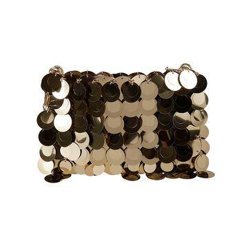 Paco Rabanne Round Metal Embellished Chain Shoulder Bag