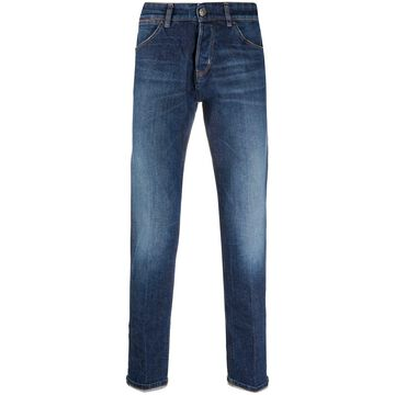 swashed slim-fit jeans