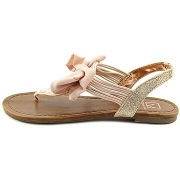 Material Girl Womens Sari Open Toe Casual T-Strap Sandals
