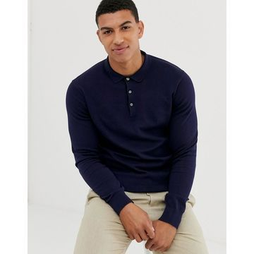 Jack & Jones Premium knitted polo in navy