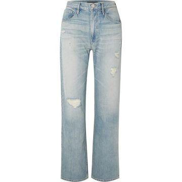 3x1 - Addie Distressed Boyfriend Jeans - Light denim