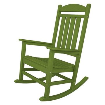 POLYWOOD Presidential Rocking Chair in Lime