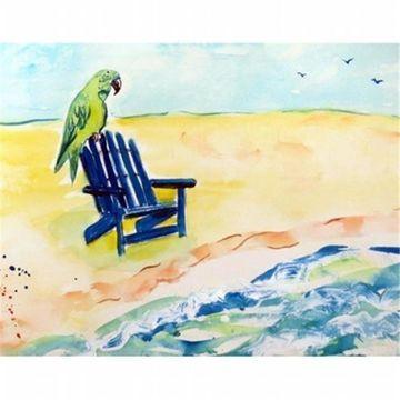 Betsy Drake DM398G Parrot & Chair Door Mat Large