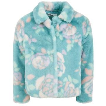Epic Threads Little Girls Floral-Print Faux-Fur Jacket, Created For Macy's