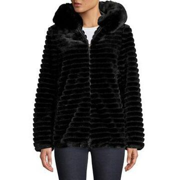 Gallery Faux-Fur Ribbed Jacket