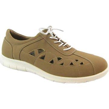 Beacon Shoes Women's Toby Sneaker Khaki Lamy Polyurethane