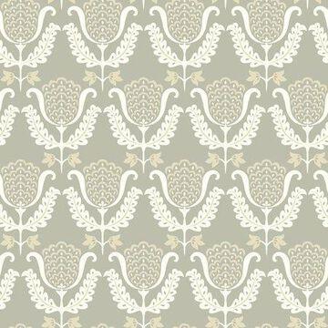 Waverly One Wish Wallpaper - Grey