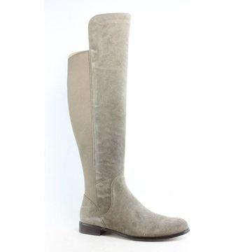 Corso Como Womens Larissa Taupe Suede Riding Boots Size 6