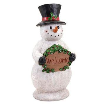 Benzara Jolly Snowman Sculpture