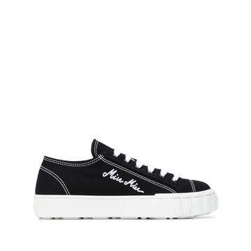 MIU MIU gabardine low-top sneakers