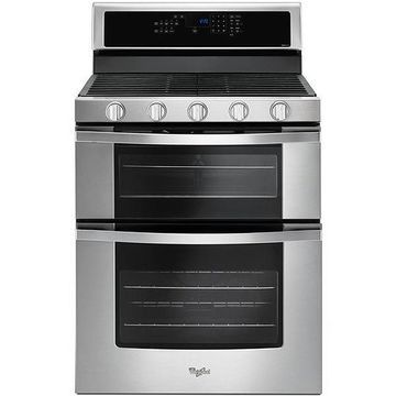 Whirlpool Stainless Steel Double Oven Gas Range