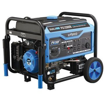 9500 Watt Hybrid Portable Generator, 8 gal., Gasoline or Propane
