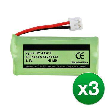 Replacement Battery For VTech CS6649 Cordless Phones - BT166342 (750mAh, 2.4V, NiMH) - 3 Pack