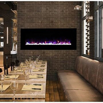 Northwest Wall-mounted 54-inch Electric Fireplace with Remote - 54 x 20 x 4.75