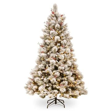 National Tree Company 7.5-ft Pre-Lit Traditional Artificial Christmas Tree with 700 Constant White Clear Incandescent Lights | SBE1-309-75