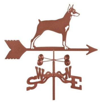 EZ Vane Doberman Dog Weathervane With Deck Mount