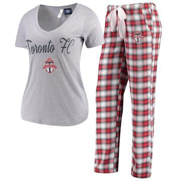 Women's Concepts Sport Gray/Red Toronto FC Forge Flannel Set
