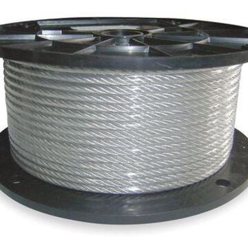 DAYTON 2TAT9 Cable,1/4 In,L 50 Ft,WLL 900 Lb