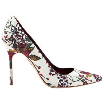Manolo Blahnik Multicolour Cloth Heels