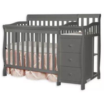 Dream On Me Jayden 4-In-1 Mini Convertible Crib And Changer In Steel Grey