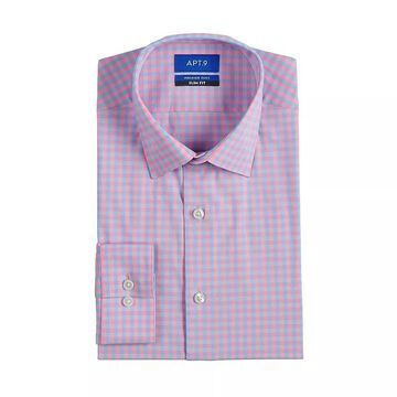 Men's Apt. 9 Premier Flex Slim-Fit Spread-Collar Dress Shirt, Size: XL-32/33, Light Pink