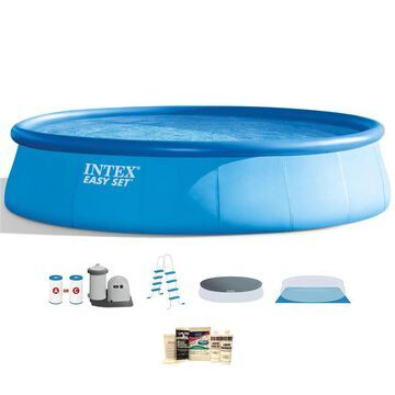 Intex 18-ft x 18-ft x 48-in Round Above-Ground Pool | 138302