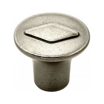 Amerock Knob 30mm Diameter - Antique Nickel BP24006-AN