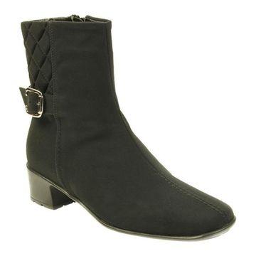 Sesto Meucci Women's York Boot Black Micro Fabric