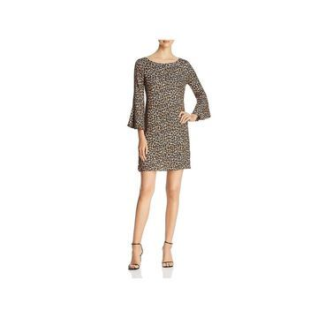 Three Dots Womens Party Dress Animal Print Cocktail