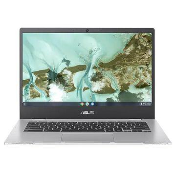 "ASUS Chromebook CX1 14"" Laptop, Intel Celeron N3350, 4GB Memory, 32GB eMMC, Chrome OS, Silver (CX1400CNA-DS42)"