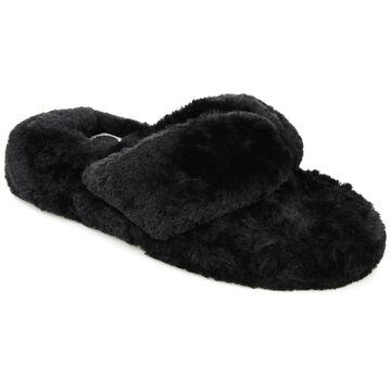 Brinley Co. Women's Soft Faux Fur Slip On Slippers