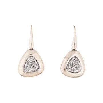 Diamond Capri Blue Drop Earrings silver
