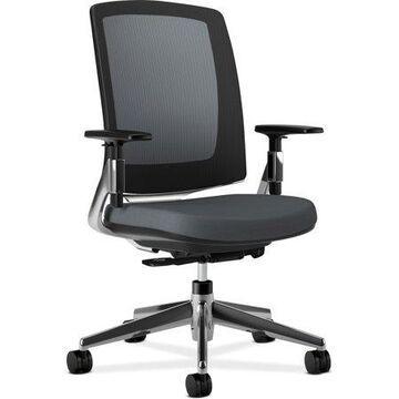 HON, HON2283VA19PA, Lota Mesh Back Chair, Arms, 1 Each, Charcoal Black
